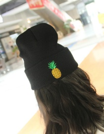Lovely Black Pineapple Shape Decorated Cap