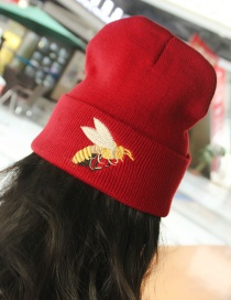 Lovely Red Bee Shape Decorated Cap