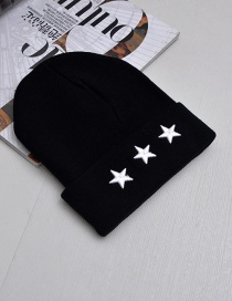 Fashion Black Star Shape Decorated Cap