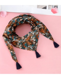Fashion Brown Tassel Decorated Scarf