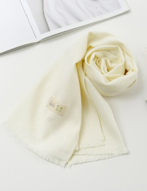 Fashion White Pure Color Decorated Baby Scarf
