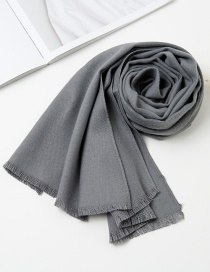 Fashion Gray Pure Color Decorated Baby Scarf