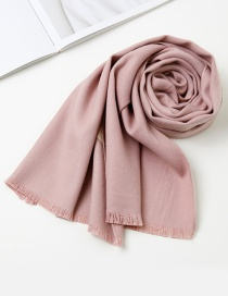 Fashion Light Purple Pure Color Decorated Baby Scarf