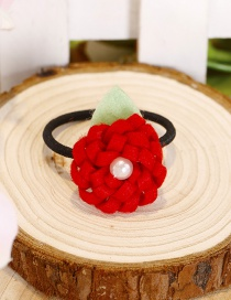 Fashion Red Flower Shape Decorated Hair Band(1pc)