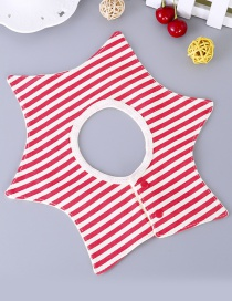 Fashion Red Stripe Pattern Decorated Bib