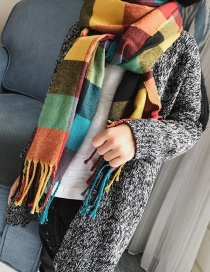 Fashion Multi-color Color-matching Decorated Children Tassel Scarf