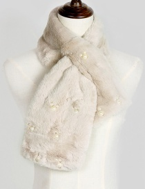 Lovely Light Brown Mickey Shape Decorated Scarf