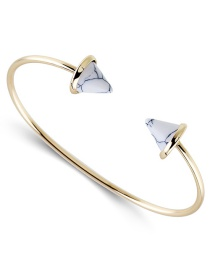 Fashion White Triangle Shape Decorated Opening Bracelet