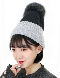 Fashion Gray Letter Decorated Hat