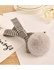 Fashion Light Gray Ball Decorated Pom Hair Clip