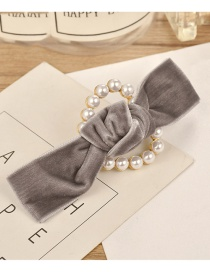 Fashion Gray] Bowknot Shape Decorated Hair Clip