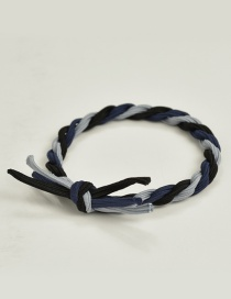 Fashion Navy+gray Color Matching Decorated Hair Band