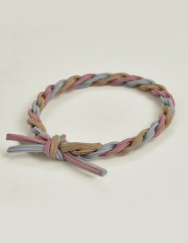 Fashion Khaki+pink+blue Color Matching Decorated Hair Band