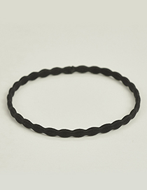 Fashion Black Knot Shape Design Pure Color Hair Band