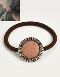 Fashion Pink Button Shape Decorated Hair Band