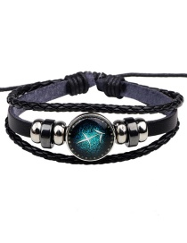 Fashion Black Sagittarius Pattern Decorated Bracelet