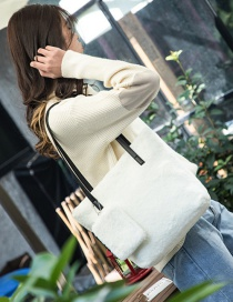 Fashion White Pure Color Decorated Shoulder Bag ( 2 Pcs)