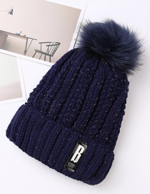Fashion Navy Pure Color Decorated Hat