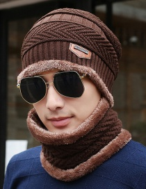 Fashion Coffee Letter Patch Decorated Hat ( 2 Pcs)