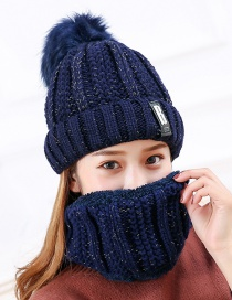 Fashion Navy Letter Patch Decorated Hat ( 2 Pcs)