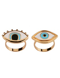 Exaggerated Gold Color Eyes Shape Decorated Simple Ring