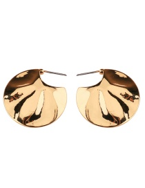 Exaggerated Gold Color Semicircle Shape Decorated Earrings