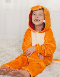 Lovely Orange Dragon Decorated Children Pajamas
