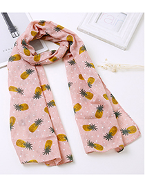 Lovely Pink Pineapple Pattern Decorated Child Scarf(1-12 Years Old)