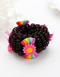 Fashion Multi-color Bowknot Decorated Simple Child Wig(1pc)