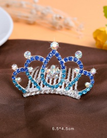 Lovely Blue Hollow Out Decorated Hairpin (larger)
