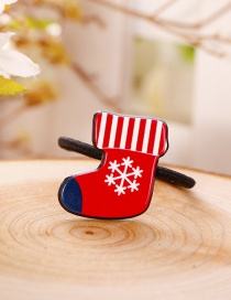 Fashion Red Sock Shape Decorated Christmas Hair Band