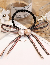 Fashion Light Pink+white Pearl Decorated Hair Band