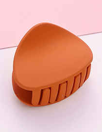 Fashion Orange Triangle Shape Decorated Hair Claw