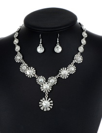 Lovely Silver Color Flower Shape Decorated Jewelry Sets