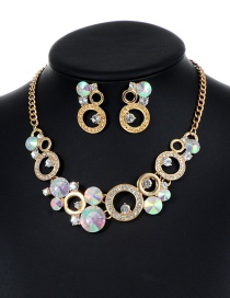 Fashion Multi-color Round Shape Decorated Hollow Out Jewelry Sets