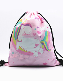 Lovely Blue Unicorn&rainbow Pattern Decorated Backpack