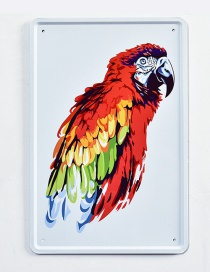 Fashion Red Parrot Pattern Decorated Hang Painting