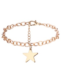 Elegnt Gold Color Star Shape Decorated Bracelet