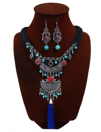 Bohemia Blue Hand-woven Decorated Jewelry Sets