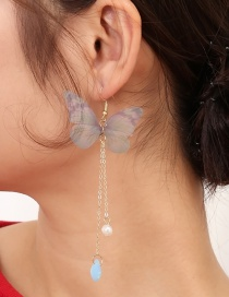 Fashion Gray Butterfly Shape Decorated Earrings