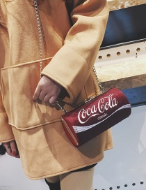 Fashion Red Coke Bottle Shape Decorated Shoulder Bag