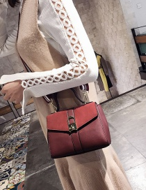 Fashion Red Button Decorated Shoulder Bag