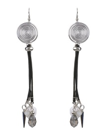 Fashion White Ball Decorated Pom Earrings
