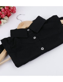 Fashion Black Diamond Decorated Fake Collar