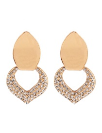 Fashion Gold Color Heart Shape Decorated Earrings
