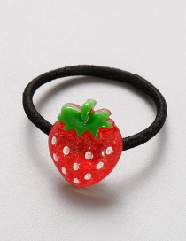 Lovely Red+green Strawberry Shape Decorated Baby Hair Band