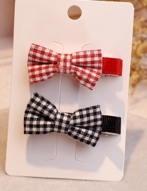 Fashion Red+black Color-matching Decorated Bowknot Hair Clip(1pair)