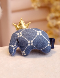 Lovely Navy Elephant Shape Decorated Hair Clip