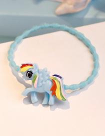 Lovely Blue Pegasus Shape Decorated Hair Band
