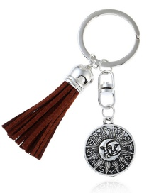 Fashion Silver Color Tassel Decorated Keychain